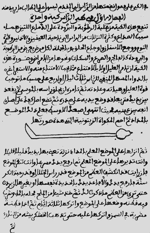 Страница из оригинала книги «ат-Тасриф», написанной аз-Захрави в 900-х годах